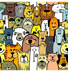 dogs and cats seamless vector image