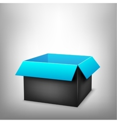3D black blue box vector image
