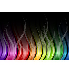 Rainbow color background vector