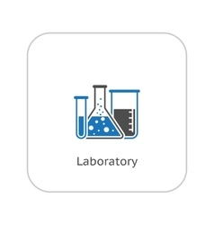 Laboratory and medical services icon flat design vector