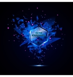 Blue techno style explosion vector