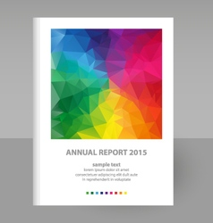 Annual report full color spectrum polygon vector