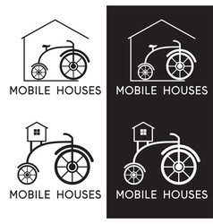 Bicycle in design of mobile houses vector