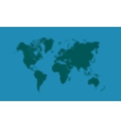 Green halftone political world map on vector image