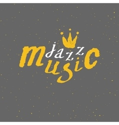 Jazz - live music lettering vector