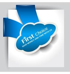 First choice icon vector