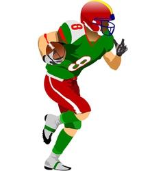 al 0925 american football 03 vector image