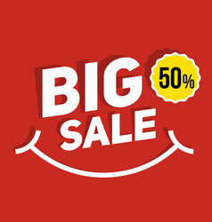 big sale banner for promotion advertising vector image vector image