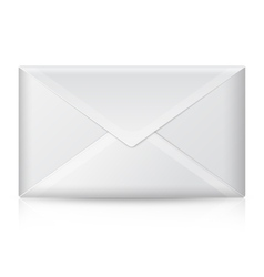 Blank realistic closed envelope Isolated vector image