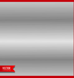 Brushed metal texture background vector