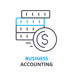 business accounting concept outline icon linear vector image