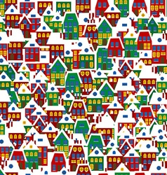 Cartoon background with houses vector