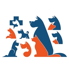 cats and dogs vector image vector image