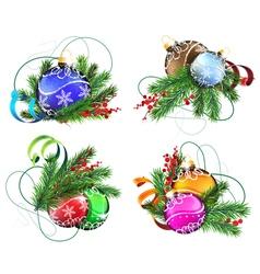 Christmas decoration elements vector