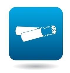 Cigarette butt icon in simple style vector
