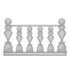 Classic stone balustrade icon cartoon style vector image vector image