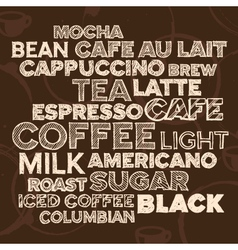 coffee text design vector image