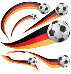 germany flag with soccer ball vector image vector image