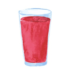 Glass watercolor red vector