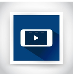 Icon of video for web and mobile applications vector