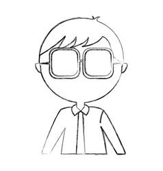 male nerd avatar character vector image