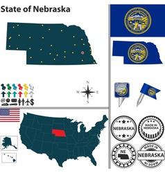 Map of nebraska vector