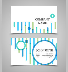 Modern blue and green business card template vector image