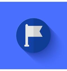 modern flat blue circle icon vector image