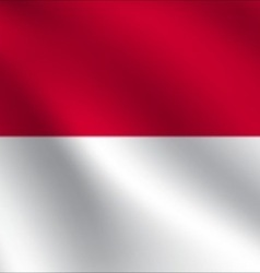 Monaco flag vector