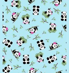 panda bamboo vector image vector image