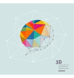 Polygonal geometric 3d speech bubble vector