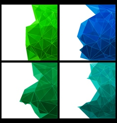 Set of abstract modern style backgrounds vector image