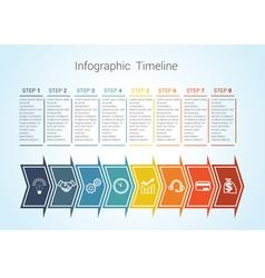 timeline arrows 8 vector image vector image