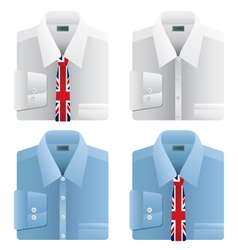 union jack ties vector image