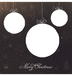 vintage christmas balls vector image vector image
