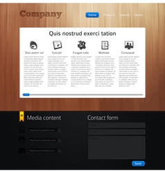 website design template vector image vector image
