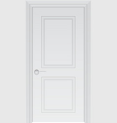 White door isolated on white photo-realistic vector image vector image