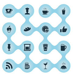 Set of simple restaurant icons vector