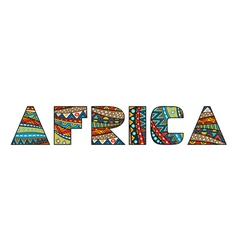 Africa title vector