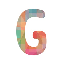 Colorful alphabet g vector