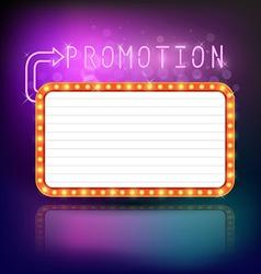 Retro vintage frame banner promotion vector image