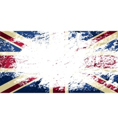 Great britain flag grunge background vector