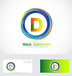 Letter d circle logo vector