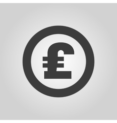 The pound sterling icon cash and money wealth vector