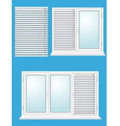 Plastic window with jalousies vector