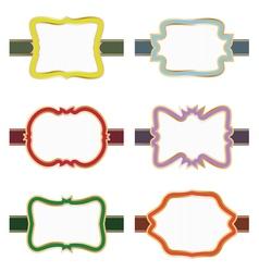 Decorative labels vector