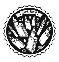 Vape shop vector