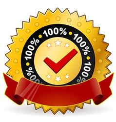 Satisfaction warranty label vector
