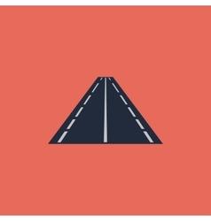 Road flat icon vector