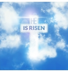 Easter christian celebration he is risen vector